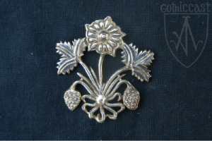 Strawberry heraldic badge 14-15th century