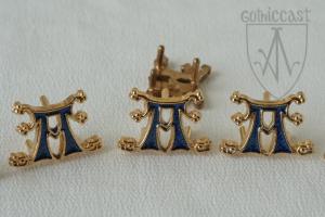 'A' Baden-Baden mounts with blue enamel