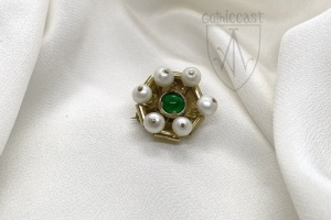Brooch with six perals 1360-1500