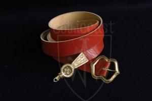 European medieval belt (red) for 14-15 century