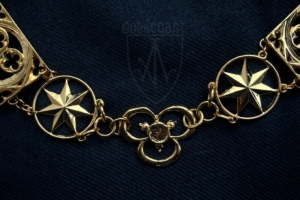 Knight necklace 14th 15th century Gothic&Stars