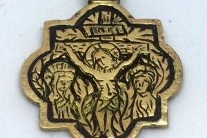 Medieval pendant Crucifix 1450-1500