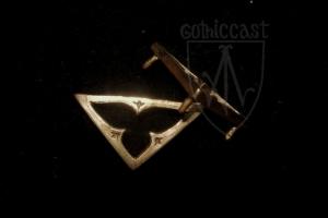 Triangular medieval plaque 1360-1500