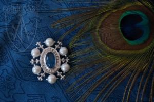 St.Eligius Brooch blue lolite silver