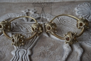 Three-beads temple rings 10-12 th century