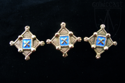 Belt mounts 14-15 century Western Europe EM-09