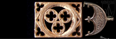 Trident Strap End 1400 AD-1500 AD