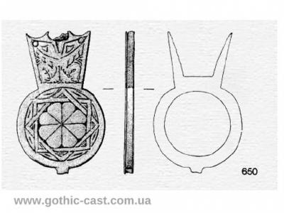 Gexagram Strap End 1300 AD-1500 AD, West