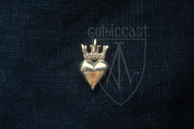 Crowned Heart Badge 14 - 15 centuries. Western Europe