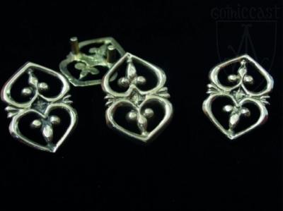 Heart belt mounts 1360-1500 A.D.