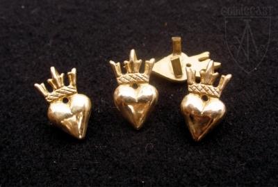 Сrowned Heart Belt mounts 1360-1500 A.D.