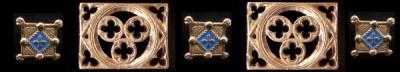 Gothic rectangular belt mounts 1400-1500 A.D.