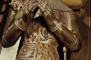 Black Prince Sword Scabbard metal decoration