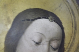 Brooch Megi with blue glass 1420-1520