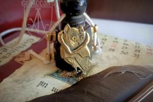 """Medieval badge """"Owl in hood"""" 1340-1500"""