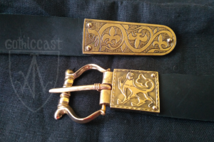 Medieval belt set Lion