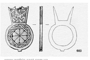 Medieval belt with Sweden and English mounts
