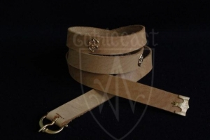 Medieval belt with mounts (beige)