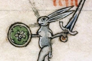 Medieval hare wfrom manuscript