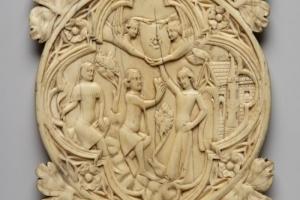 Medieval mirror case British Museum