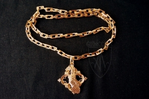 Molten Chain & Medallion, medieval 15th century