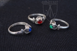 Ring with quatrefoil stoneplace  silver