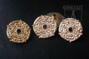 Rose shape eyelet belt mount 1400-1500 A.D.