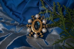 St.Eligius Brooch blue lolite