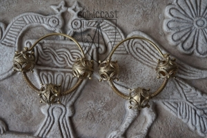 Three-beads temple rings 10-12 th century