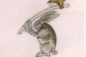 Madieval rabbit from manuscript