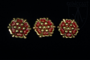 Small Rose Belt mounts with enamel 1300-1500 A.D.