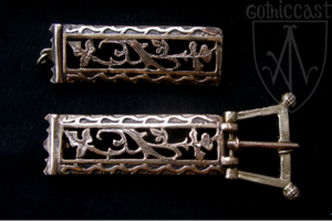 Le Duc Belt Buckle and Ending Set,14-15 c. Western Europe