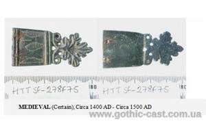 """Maple leaf"" belt buckle and ending 14-15 c. Western Europe"