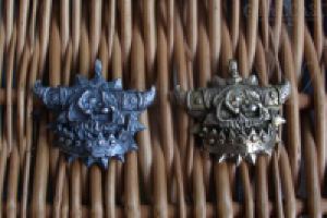 Orc skull pendant